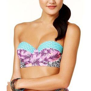 Hula Honey Swim - Hula Honey Leaf Breeze Push-Up Bikini Top XS